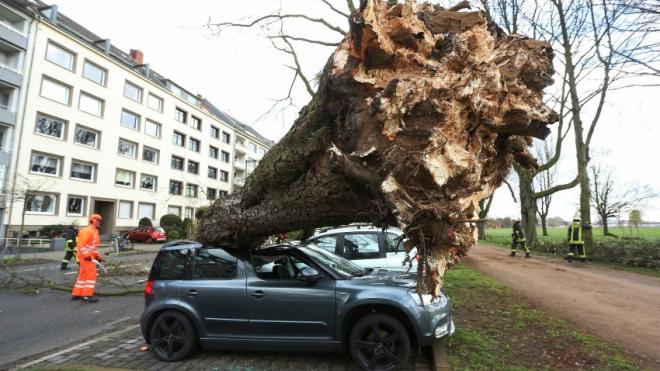 Порывы ветра в Германии достигают 120 км/ч