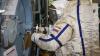 Вернувшийся после полета на МКС космонавт Скрипочка ...