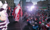В праздничных мероприятиях Выборга принял участие Дед Мороз из Великого Устюга