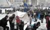 Киевские власти ответили на строительство баррикад заливанием катка
