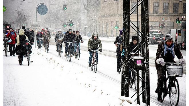Петербургское велообщество проведет первую в этом году зимнюю акцию
