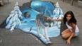 """Международный фестиваль рисунков на асфальте, """"Диво-остр..."""