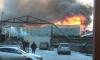 Появились фото пожара на Митрофаньевском шоссе в Петербурге