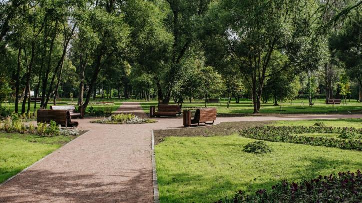 Завершено благоустройство Пионерского сада