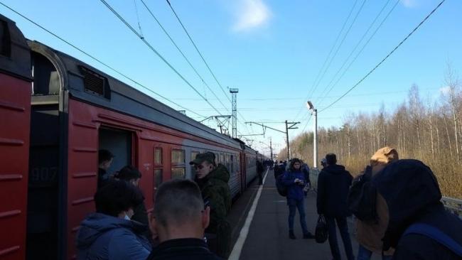 Пригородные электрички в Приозерском направлении встали почти на час