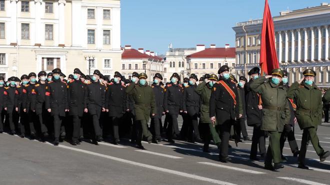 В Петербурге ограничили движение в связи с репетицией парада