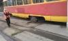 Появилось фото старого трамвая, сошедшего с рельсов в Волгограде