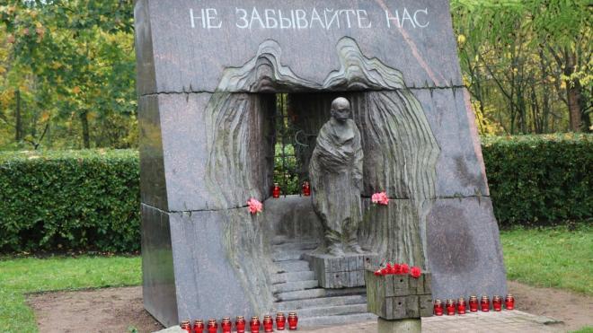 Пьяный бомж разгромил памятник Узникам нацизма в Красном Селе