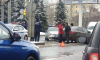 Машина ДПС сразу же оказалась на месте ДТП на площади Климова
