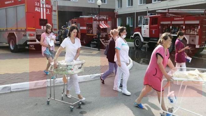 В Калуге произошел пожар в перинатальном центре