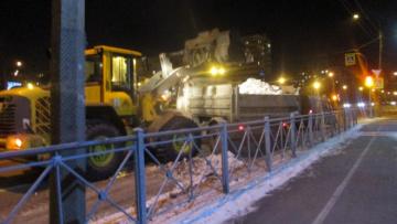За неделю с улиц Петербурга убрали более 42 тысяч кубометров снега