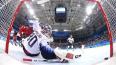 Второй период матча по хоккею Россия - США закончился ...