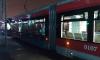 Вандалы разрисовали петербургский трамвай