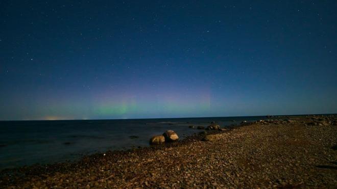 В Ленобласти ночью 6 ноября сняли северное сияние