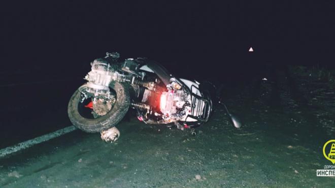 В Ленобласти произошло страшное ДТП с водителем скутера и иномаркой
