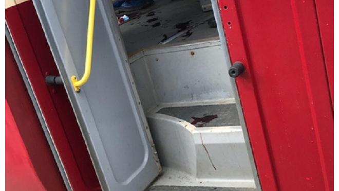В Петербургском трамвае произошел кровавый инцидент