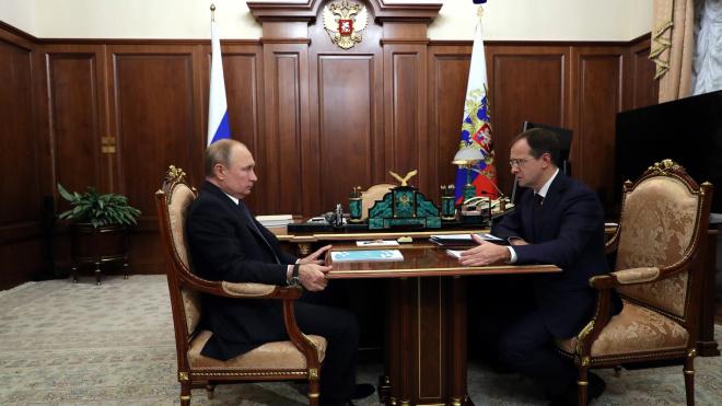 Мединский рассказал президенту РФ о результатах культурного форума в Петербурге