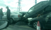 Массовая авария на КАД: Daewoo Nexia оказалась на капоте Peugeot
