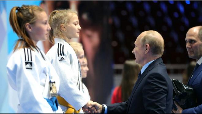 Путин наградил юных петербургских дзюдоистов