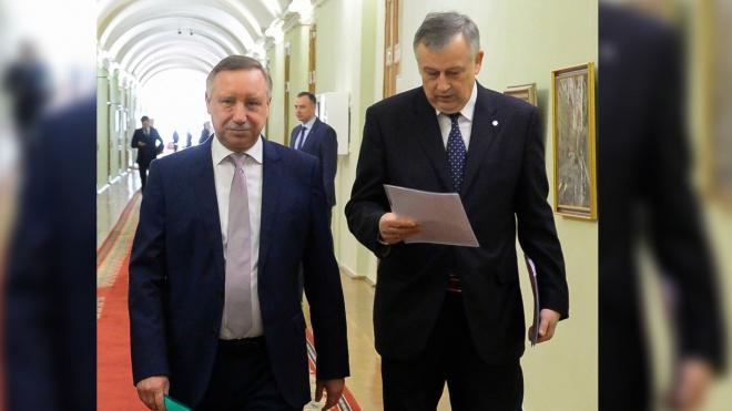 Губернаторы Петербурга и Ленобласти обсудили строительство ж/д моста через Неву