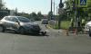 В Колпино на перекрестке Заводского и Машиностроителей женщина сбила мотоциклиста
