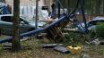 Грузоподъемный кран уничтожил автомобиль на 2-ом Муринск...