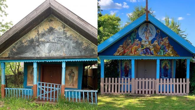 13-летняя художница расписала часовню в деревне Пристань