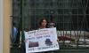 Активисты вышли у Смольного в поддержку исторического здания на Кирилловской