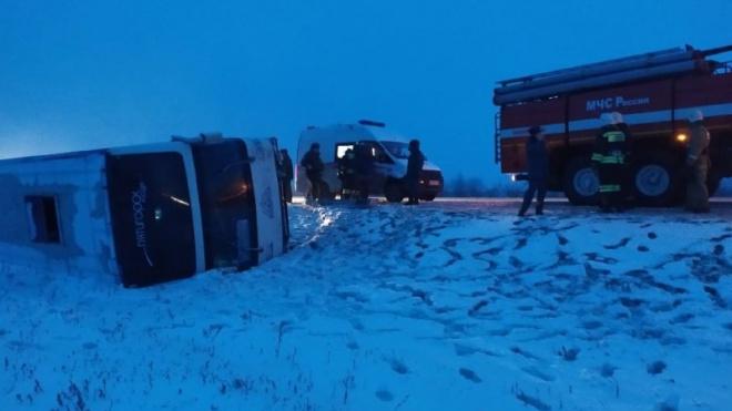 Автобус с российскими туристами перевернулся по дороге в Финляндию