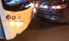 В центре Петербурга автобус столкулся с легковушкой: образовалась пробка