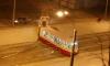 На проспекте Солидарности трамвай задрифтовал на рельсах