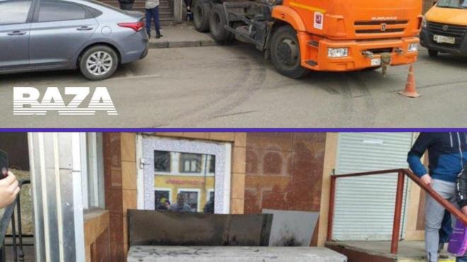 В центре Москвы власти забетонировали кафе из-за нарушений