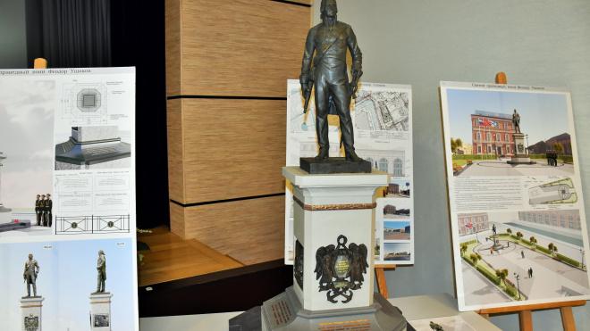 В Петербурге презентовали эскиз памятника адмиралу Федору Ушакову