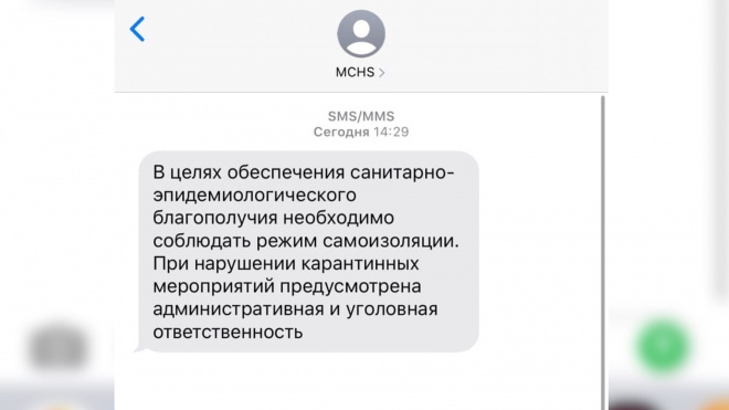 МЧС напоминает петербуржцам, чем грозит нарушение карантина