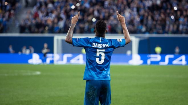 """Полузащитник """"Зенита"""" Барриос рассказал, что ему хочется вести петербургский клуб к победам"""