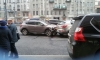Массовое ДТП на Лиговском: одну из машин перевернуло на бок