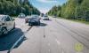 В Выборгском районе произошла авария с участием трех автомобилей