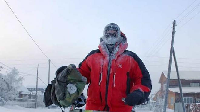 Итальянский велосипедист проедет почти 3 тысячи километров по зимней Якутии