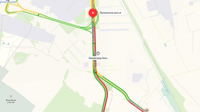 ПМЭФ стал причиной 5-километрового затора на Пулковском шоссе