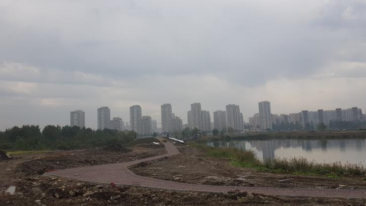 Строительство парка на Софийской идет по графику