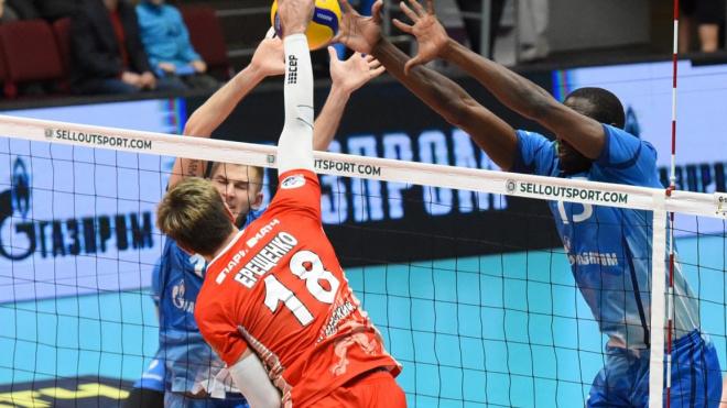 Петербургские волейболисты победили красноярцев в матче ЧР