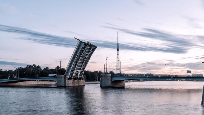 В ночь на 12 апреля в Петербурге разведут два моста