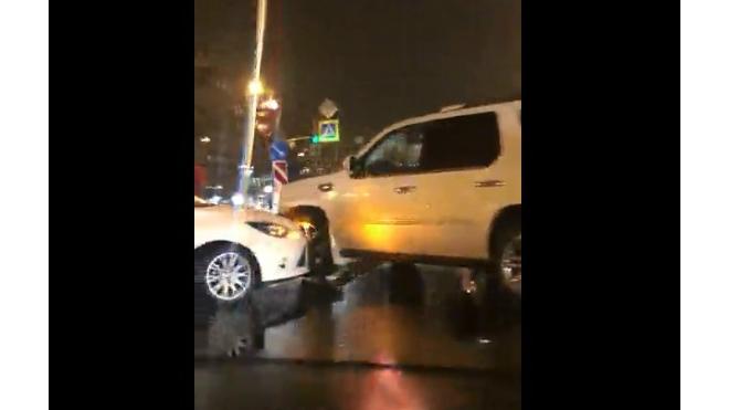 ДТП Красногвардейский район: столкнулись две белые иномарки