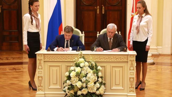 Макаров и Полтавченко подписали план совместных работ на 2018/19 год