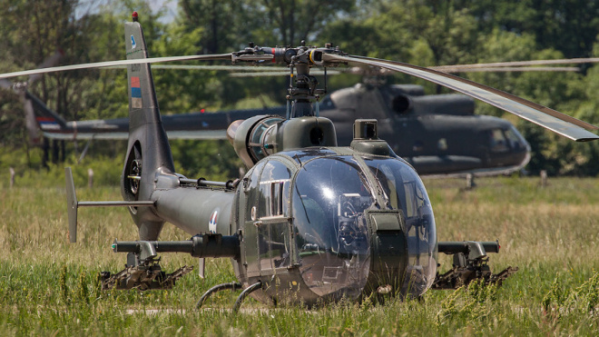 В Сербии потерпел крушение военный вертолет