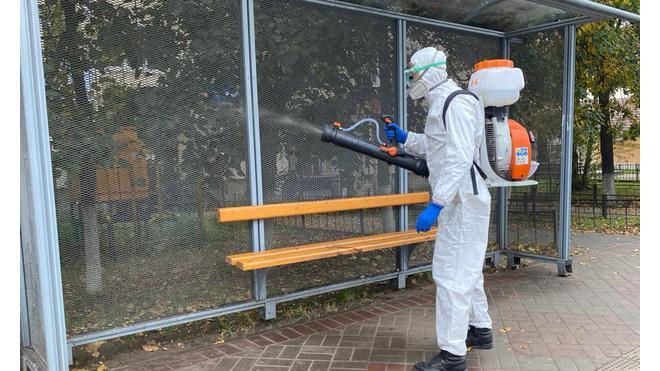 В Выборге продолжают проводить санитарную обработку общественных мест