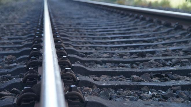 По временному путепроводу над Пулковским шоссе поехали грузовые поезда