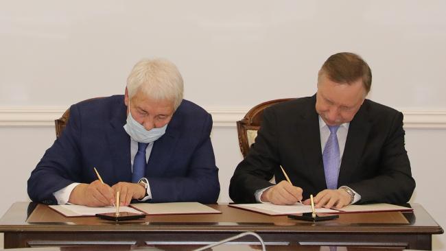 """Правительство Северной столицы и Банк """"Санкт-Петербург"""" подписали соглашение о сотрудничестве"""