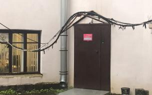 Жители дома на Леншоссе 1 жалуются на отсутствие водосточных труб