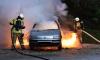 На парковке в Красногвардейском районе сгорели две машины
